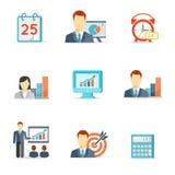 Grupo de ícones coloridos do negócio do vetor ilustração do vetor