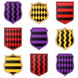 Grupo de ícones coloridos do protetor em um fundo branco Fotos de Stock Royalty Free