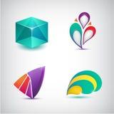 Grupo de ícones coloridos do sumário do vetor, logotipos Foto de Stock