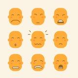Grupo de ícones com caras amarelas Ilustração do Vetor