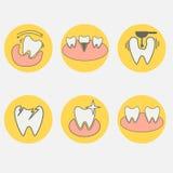 Grupo de ícones conceptuais dentais Imagens de Stock Royalty Free