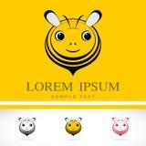 Grupo de ícones da abelha do vetor Imagens de Stock