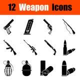 Grupo de ícones da arma Imagem de Stock