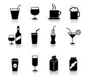Grupo de ícones da bebida Imagem de Stock Royalty Free