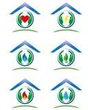 Grupo de ícones da casa de serviço público Imagens de Stock Royalty Free
