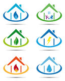 Grupo de ícones da casa de serviço público Fotos de Stock