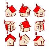 Grupo de ícones da casa para seu projeto Imagem de Stock