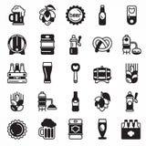 Grupo de ícones da cerveja Imagens de Stock