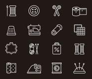 Grupo de ícones da costura e da forma Fotos de Stock