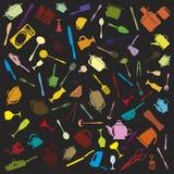 Grupo de ícones da cutelaria Foto de Stock