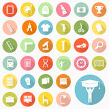 Grupo de ícones da educação Fotos de Stock Royalty Free
