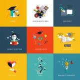 Grupo de ícones da educação Imagens de Stock Royalty Free