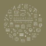 Grupo de ícones da educação Fotos de Stock