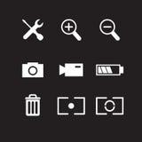 Grupo de ícones da fotografia Fotografia de Stock Royalty Free