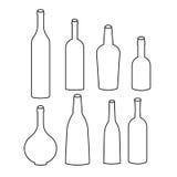 Grupo de ícones da garrafa Fotografia de Stock Royalty Free