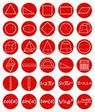 Grupo de ícones da geometria Foto de Stock