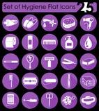 Grupo de ícones da higiene Imagens de Stock Royalty Free