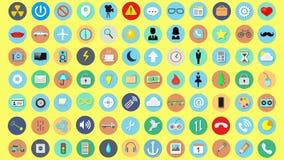 Grupo de ícones da ilustração do vetor ilustração stock