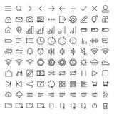 Grupo de ícones da interface de utilizador Foto de Stock Royalty Free