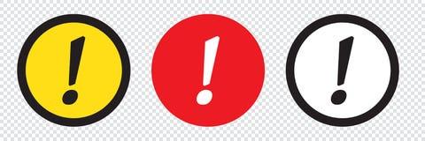 Grupo de ícones da marca de exclamação ilustração stock