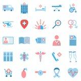Grupo de ícones da medicina Fotografia de Stock Royalty Free