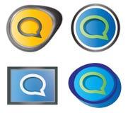 Grupo de ícones da mensagem Foto de Stock Royalty Free