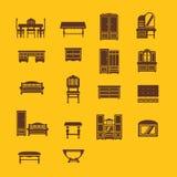 Grupo de ícones da mobília Ilustração Stock