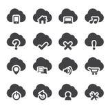 Grupo de ícones da nuvem Fotografia de Stock