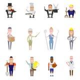 Grupo de ícones da ocupação ilustração stock
