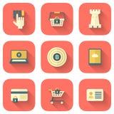 Grupo de ícones da segurança do App Fotos de Stock