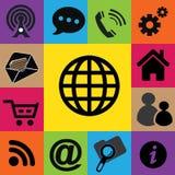 Grupo de ícones da Web coloridos Imagens de Stock