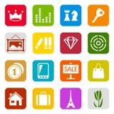 Grupo universal do ícone Fotografia de Stock Royalty Free