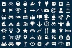 Grupo de ícones da Web para a finança e a comunicação do negócio Imagens de Stock