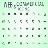 Grupo de ícones da Web para o negócio, a finança e a comunicação Imagem de Stock