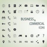 Grupo de ícones da Web para o negócio, a finança e a comunicação Imagens de Stock