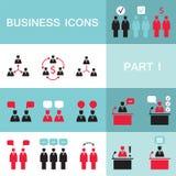 Grupo de ícones da Web para o negócio, finança, escritório, uma comunicação, recursos humanos Imagens de Stock Royalty Free