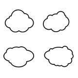 Grupo de ícones das nuvens Ilustração Stock