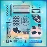 Grupo de ícones, de beiras e de elementos universais para seu projeto. VE ilustração stock