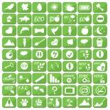Grupo de ícones, de ilustrações e de logotipos no tema da ecologia Fotografia de Stock Royalty Free