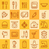 Grupo de ícones de tipos diferentes de cookware Ilustração Royalty Free
