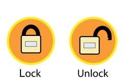 Grupo de ícones do acesso que descrevem um cadeado Ilustração do Vetor