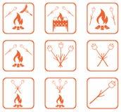 Grupo de ícones do assado Fotografia de Stock