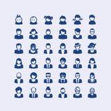 Grupo de ícones do avatar Imagens de Stock Royalty Free