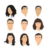 Grupo de ícones do avatar Imagem de Stock Royalty Free