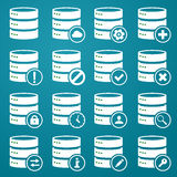 Grupo de ícones do DB Foto de Stock