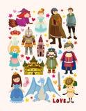 Grupo de ícones do elemento do conto de fadas Foto de Stock Royalty Free