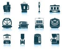 Grupo de ícones do equipamento da cozinha Imagens de Stock