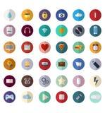 Grupo de ícones do escritório no projeto liso com sombras Fotografia de Stock Royalty Free