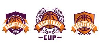 Grupo de ícones do esporte do basquetebol Fotografia de Stock Royalty Free
