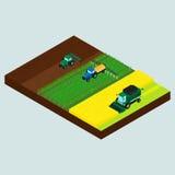 Grupo de ícones do fazendeiro Imagem de Stock